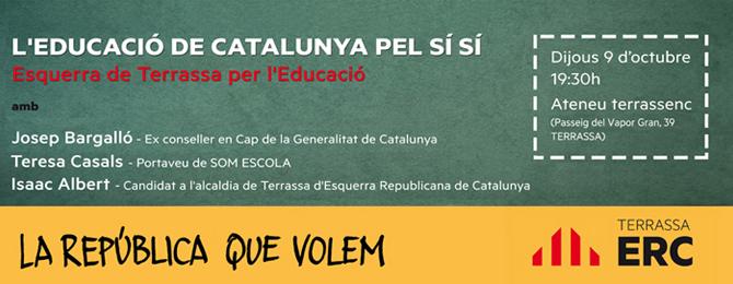 """Storify de l'acte """"L'Educació a Catalunya pel Sí Sí"""""""