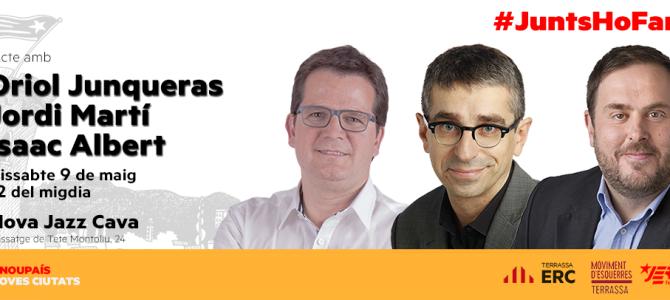 Acte amb Oriol Junqueras, Jordi Martí i Isaac Albert