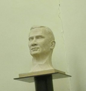 El bust del Rei espanyol que ahir es va aprovar retirar, junt a la resta de símbols monàrquics a Terrassa