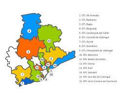 Mapa d'OTL actives actualment a la Província de Barcelona