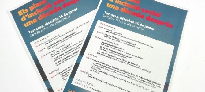 INCLUSIÓ SOCIAL A TERRASSA: JORNADA OBERTA