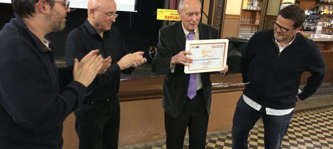 Esquerra Republicana a Terrassa premia Jaume Comellas amb el Gorra Frígia als valors republicans