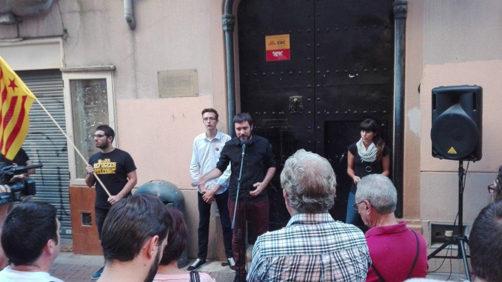 """Bernat Picornell: """"Avui recordem però també avui somriem: pel que estem fent, pel que farem el pròxim 1 d'octubre"""""""