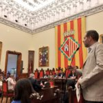 Carles Caballero durant la seva intervenció al Ple extraordinari de l'Aigua