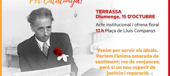 EL 15 D'Octubre esdevé acte institucional