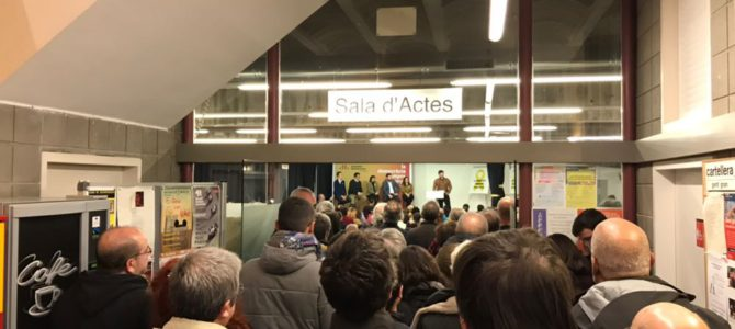 "GABRIEL RUFIÁN A TERRASSA: ""A los que nos molieron a palos, les moleremos a votos!"""