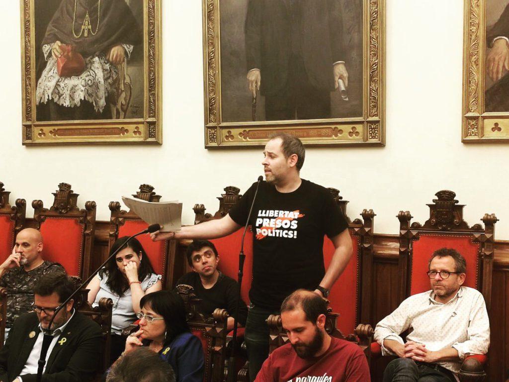 """Carles Caballero: """"No pots acusar algú de violència quan no n'hi ha hagut. Que no et pots inventar delictes per empresonar persones per les seves idees"""""""