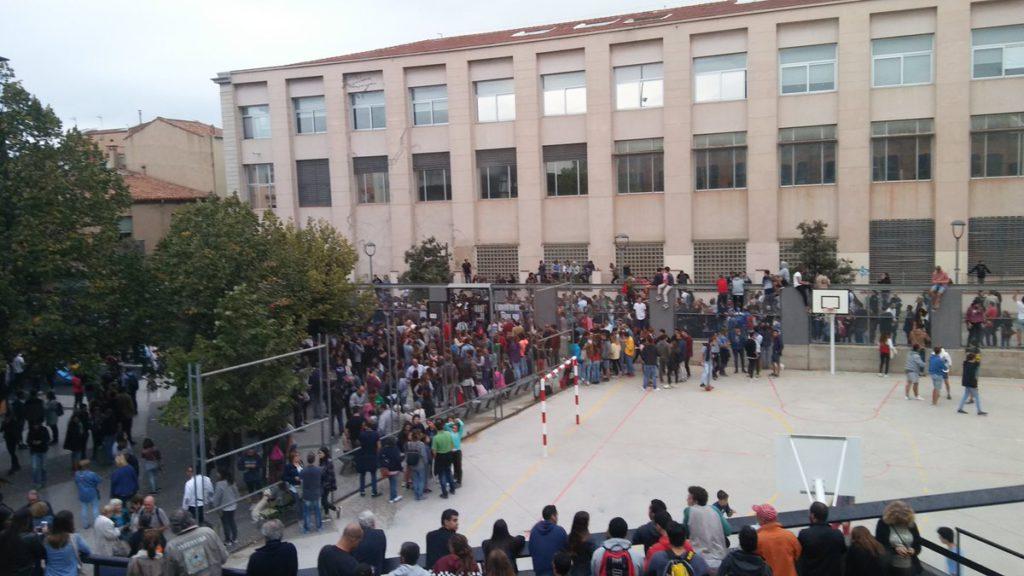 Imatge de la jornada del Referèndum a l'escola La Naspa