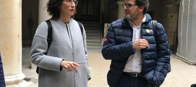 Isaac Albert visita Marta Rovira a Ginebra