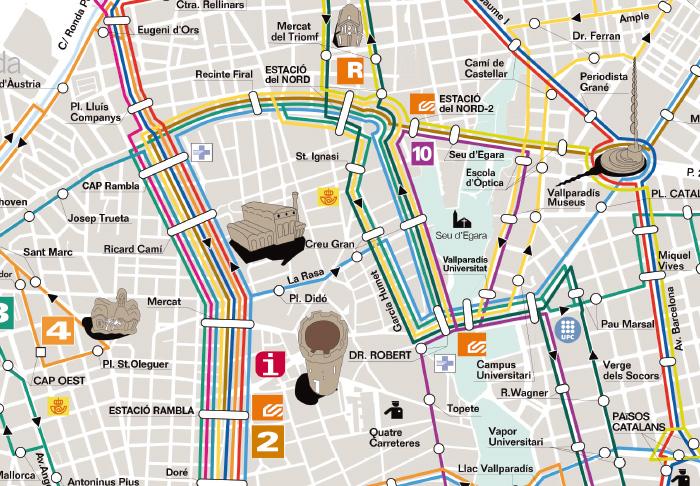 planol mapa bus terrassa