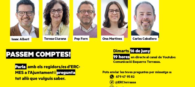 ERC-MES PASSA COMPTES AMB LA CIUTADANIA